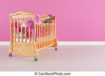 Crandle for baby girl