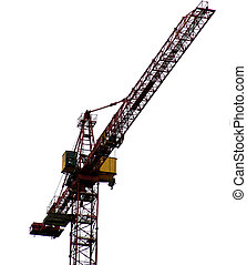 Crane - A construction crane isolated on white