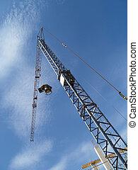 Crane and blue sky