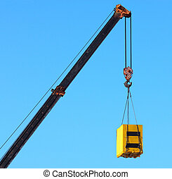 Crane and cargo. Element of building design.