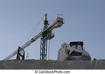 Crane and Dozer