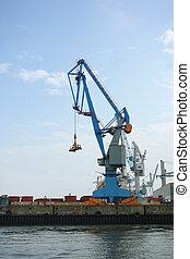 Crane at the port