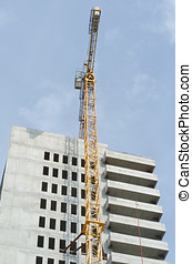 Crane by building - Building under construction