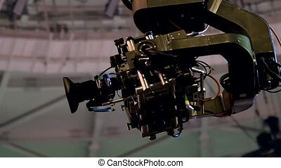 Crane camera working at event - Crane camera working at the...