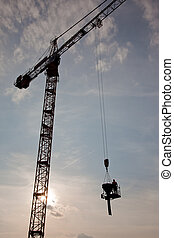 Crane concrete work