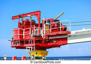 Crane construction on Oil and Rig