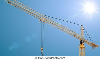 Crane - Construction Site - Full HD, 25 fps