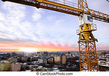 Crane Detail - A detail of a crane overlooking the Oslo...