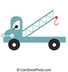 Crane flat illustration on white