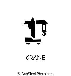 Crane flat vector icon