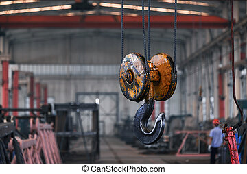 crane hook in the factory