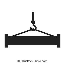 crane hook lifting icon vector illustration design