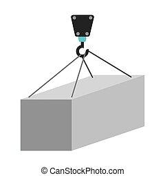 crane hook lifting icon