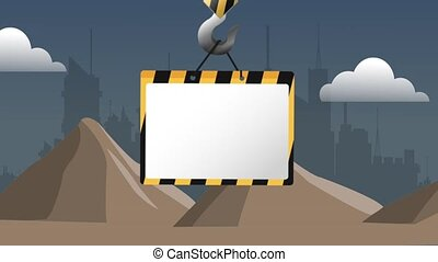 Crane hook with blank sign HD definition - Under...