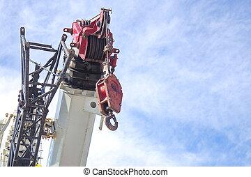 Crane Hook with blue sky
