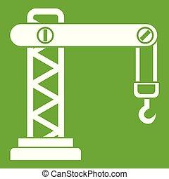 Crane icon green
