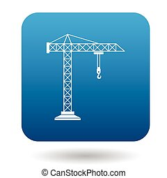 Crane icon in simple style
