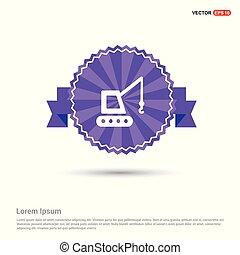Crane Icon - Purple Ribbon banner