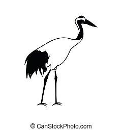Crane icon, simple style