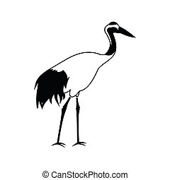 Crane icon, simple style