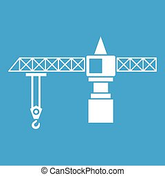 Crane icon white