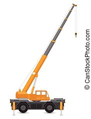 Crane - Illustration of mobile crane isolated on white...