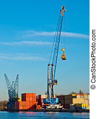 Crane in a harbour