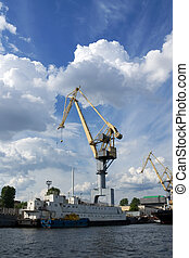 Crane in a port