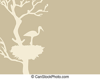 crane in jack on brown background