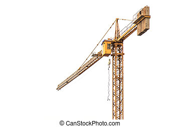 Crane isolated on white background