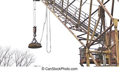 crane lifting force building for the construction video -...