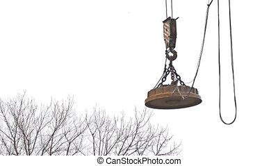 crane lifting force for building construction video - crane...
