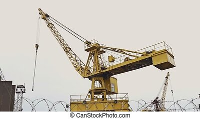 crane lifting force for the construction video - crane...