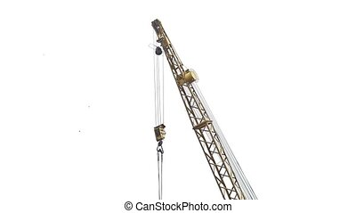 crane lifting force industry for the construction video -...