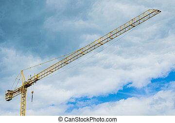 Crane of a costruction site