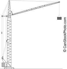 Crane on building