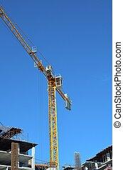 crane on construction site