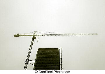 Crane on sky