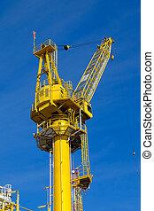 Crane operation on the platform