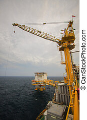 crane operation with supply boat