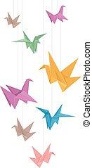 Crane Origami Design