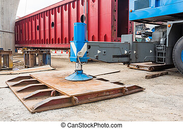 Crane outrigger pad - Heavy duty steel crane outrigger pad...