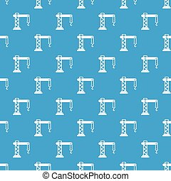 Crane pattern seamless blue