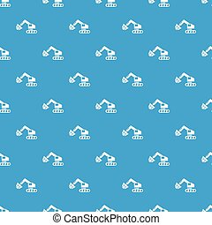 Crane pattern vector seamless blue