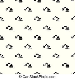 Crane pattern vector seamless