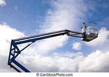 Crane Platform - A close up on an industrial elevated crane ...