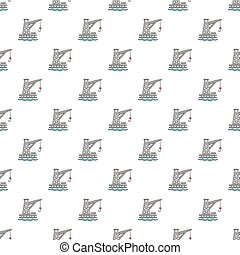 Crane port pattern seamless
