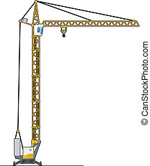 crane tower - illustration of a crane. Simple gradients only...