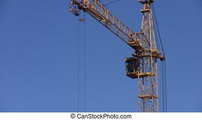 Crane turns