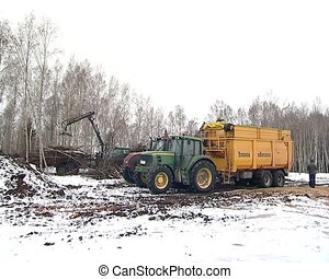 crane unload branches - forest management and biofuel...